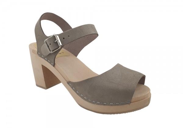 MB Clogs, Damen Sandalette grau/beige