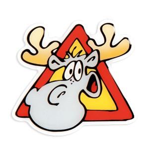 Kühlschrankmagnet Warnung Elch