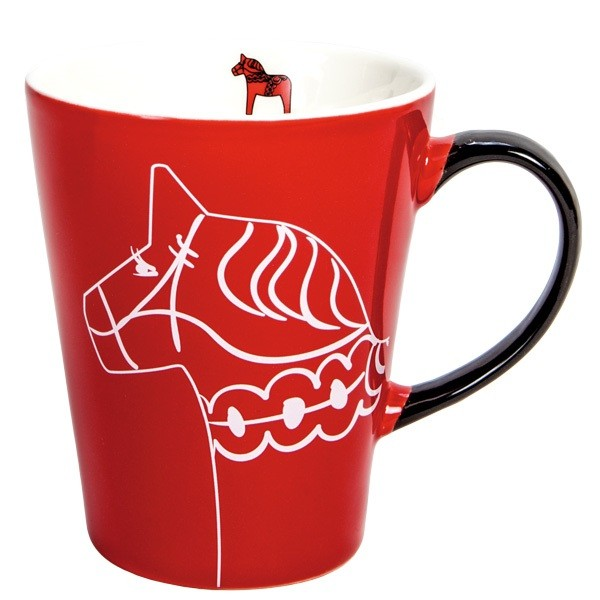 Tasse Dala Pferd rot