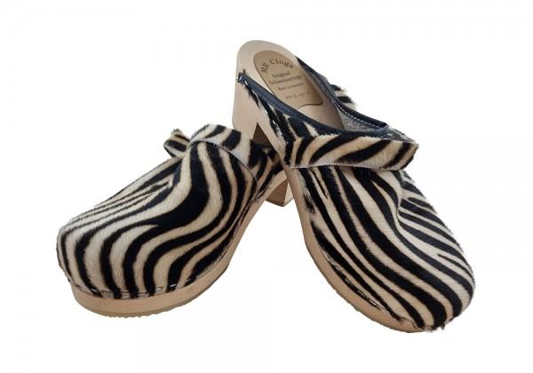 Highheel Clogs Fell Zebra Muster Gr.41