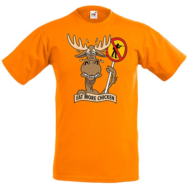 T - Shirt orange Elch warnt