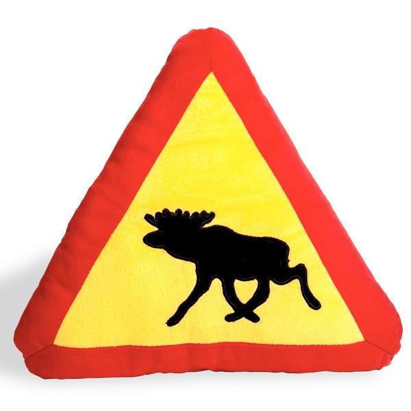 Kissen Elch Warnung