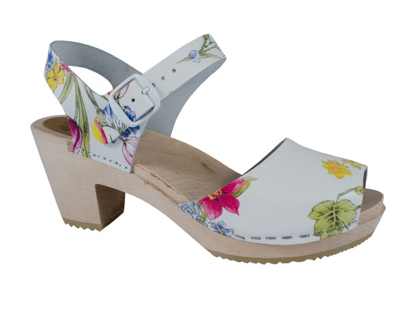 Clogs Sandalette Summer Flowers