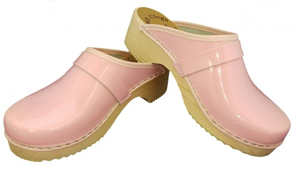 Kinderclogs Lackleder rosa