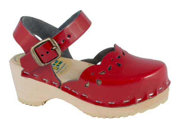 Kinder Clogs Sandalette Lackleder rot