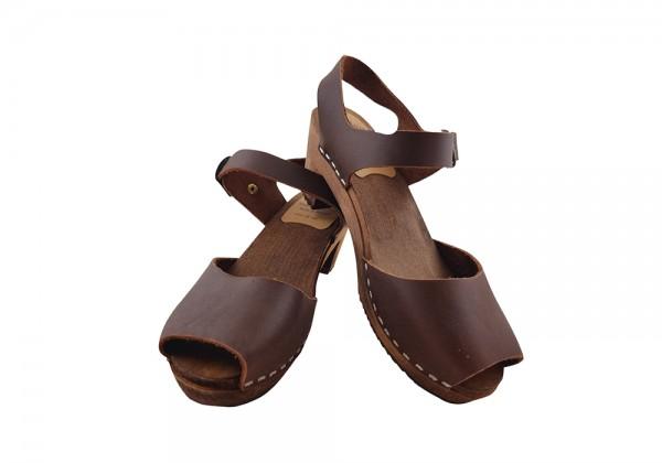Sandalette Fettleder braun Gr. 36