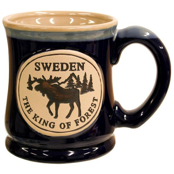 """Tasse/ Cup """"The king of forest"""" blau"""
