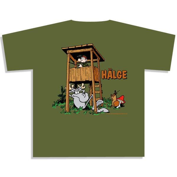 T-Shirt grün Hälge