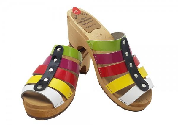 Sandalette Lackleder Kunterbunt Gr. 38