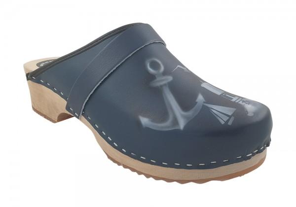 MB Clogs, Airbrush Clogs blau maritim