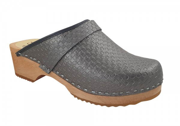 MB Clogs, Damenclogs vegan silber