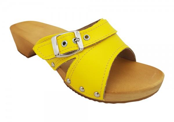Damenclogs, MB Clogs Pantolette gelb
