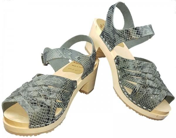 Sandalette Schlangenlederoptik Gr. 37