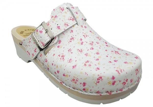 Damenclogs komfort, MB Clogs Mini Summer Flower