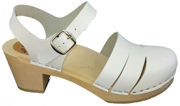 Original Schwedenclogs Sandalette weiß