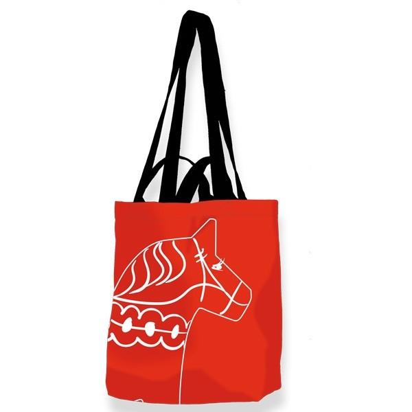 Tasche rot mit Dalapferd