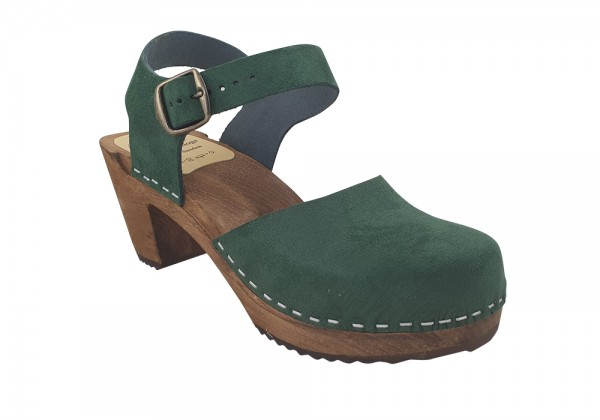 MB Clogs, Damen Sandalette grün