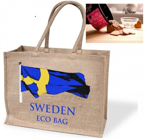 Tasche inkl. 6 Dosen schwedische Pfeffernüsse