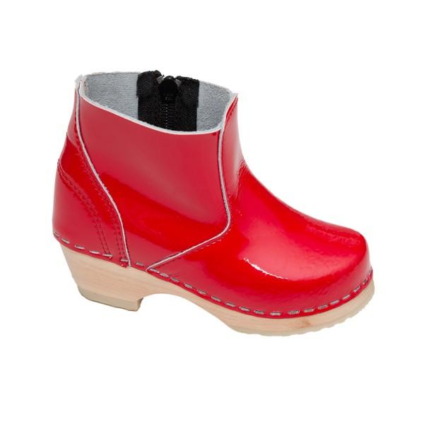 Kinderclogs Boots Lackrot