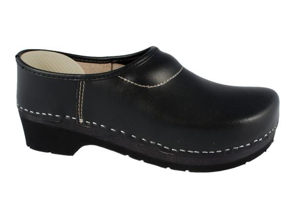 Geschlossene Clogs schwarz mit PU-Sohle Gr. 39, 40