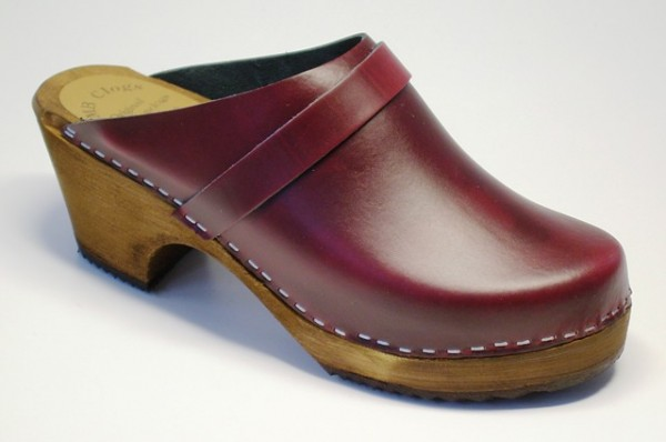 Lady Clogs weinrot
