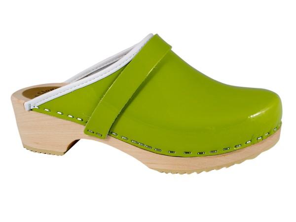 Lacklederclogs limegrün