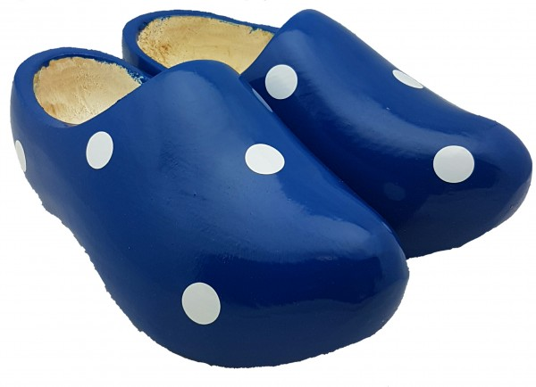 Holländische Clogs blau gepunktet