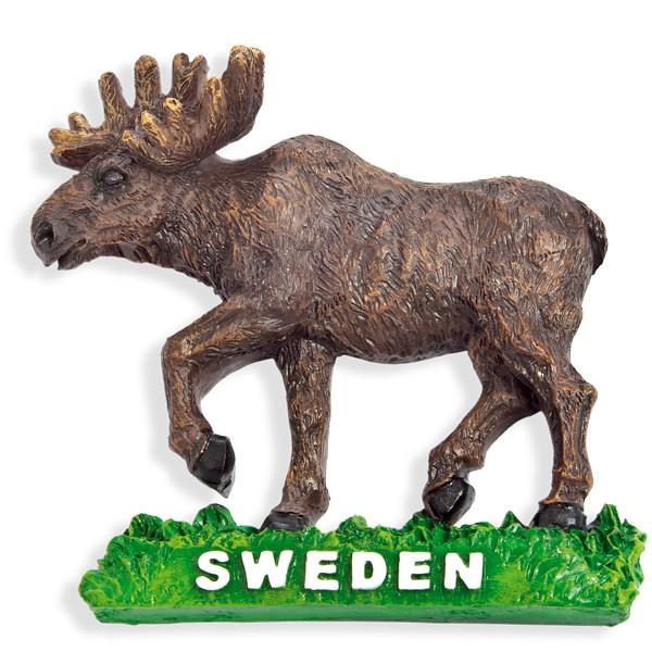 Kühlschrankmagnet Schweden Elch