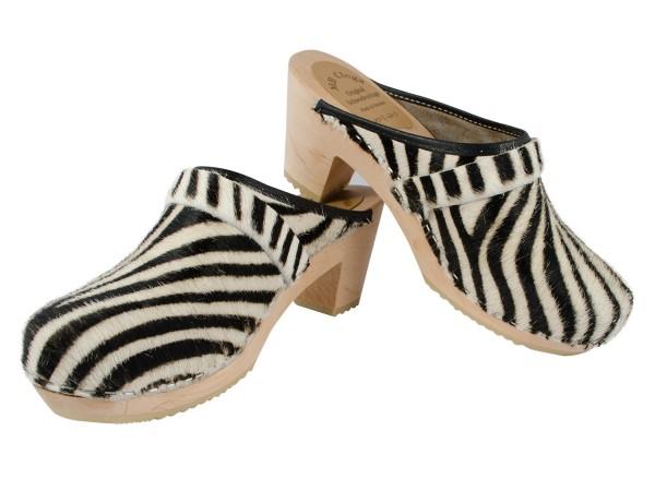 Ladyclogs Fell Motiv Zebra Gr.37